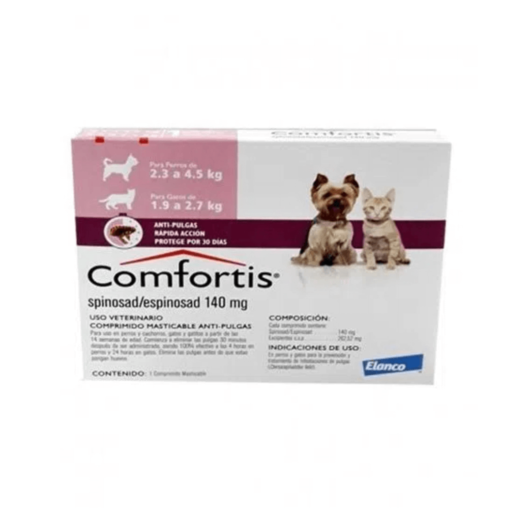 Comfortis Comfortis Pastilla Antipulgas Perro (Spinosad) 2,4 A 4,5 Kg