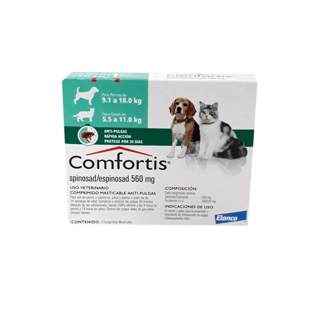 Comfortis Comfortis Pastilla Antipulgas Perro (Spinosad) 9 A 18 Kg