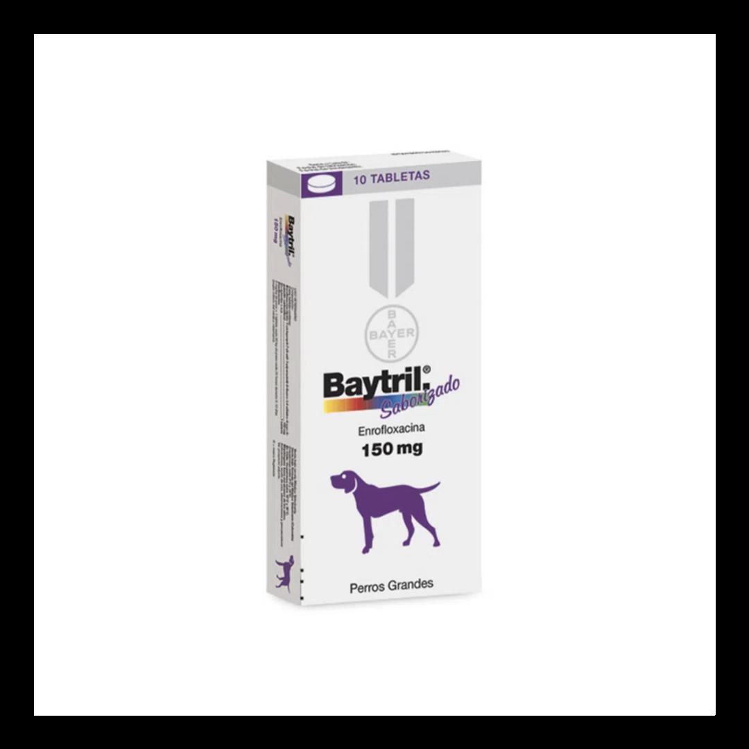 Baytril Saborizado 150 Mg 10 Comprimidos