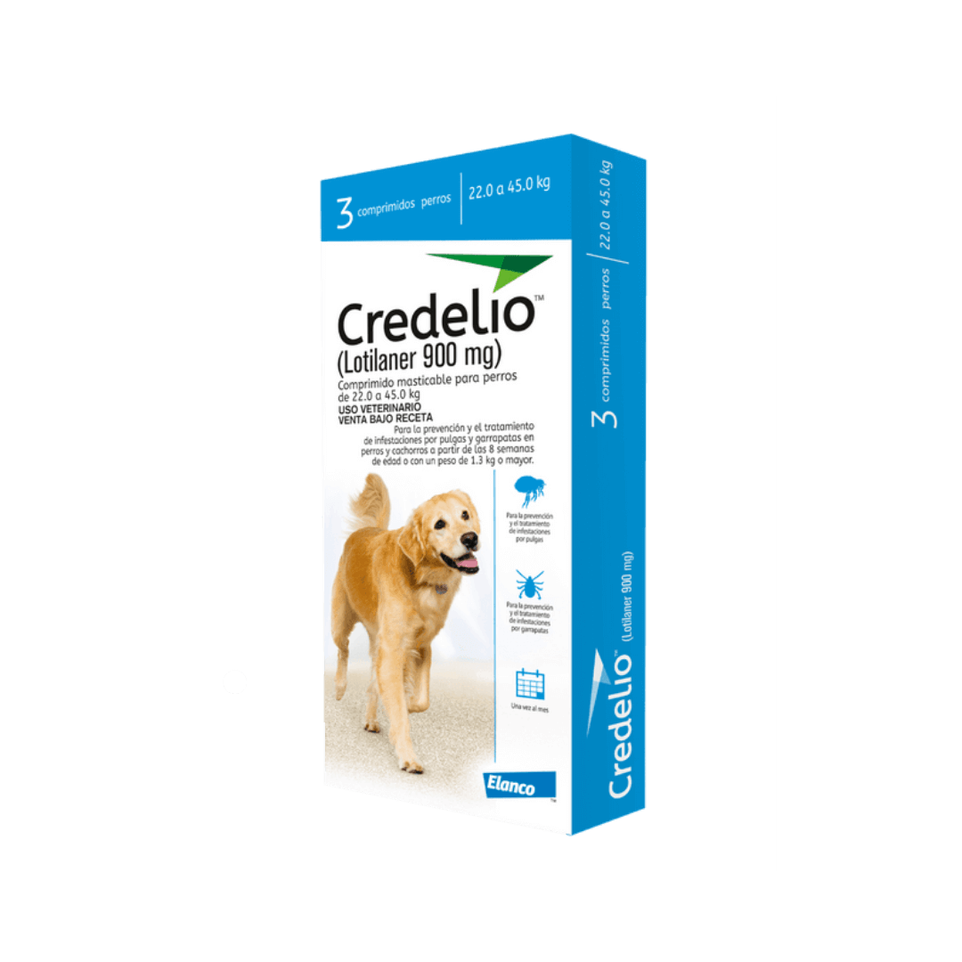 Credelio X 3 900 mg 22 a 45KG