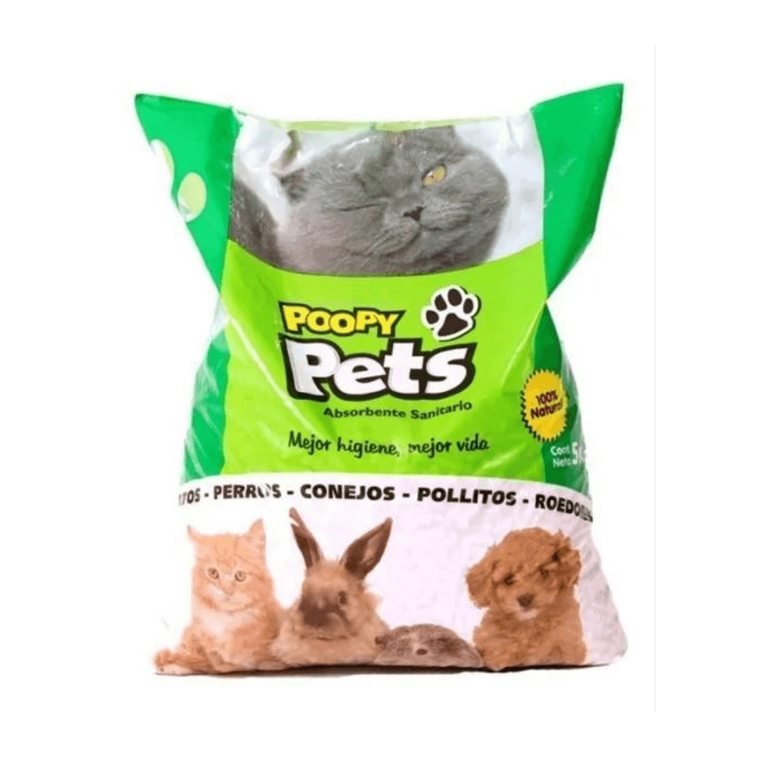 Poopy Pets Pack Pellets Sanitarias 5Kg x 5 Unidades